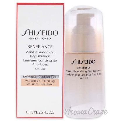 Picture of Benefiance Wrinkle Smoothing Day Emulsion SPF 20 by Shiseido for Unisex 2.5 oz Emulsion